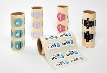 Rouleau d'étiquettes autocollantes en vinyle opaque blanc